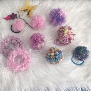 Accessories - 2/$15 Pom Pom hair ties and hair clips